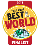 Tulsa World Best in the World medallion